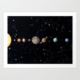 Planetary Solar System Kunstdrucke