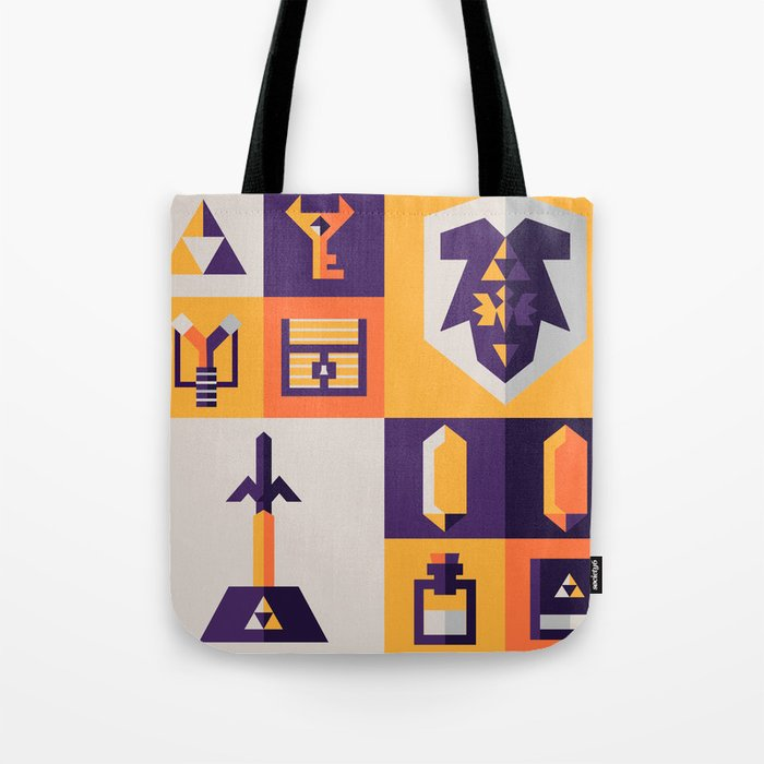 Legend of Zelda Items Tote Bag