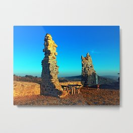 Taking a rest at the ruin | architecture photography Metal Print