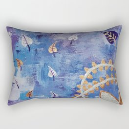 Golden Flower Rectangular Pillow