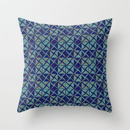 Patternsmith Triangles Blue Throw Pillow