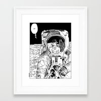 apollonia Framed Art Prints featuring asc 333 - La rencontre rapprochée ( The close encounter) by From Apollonia with Love