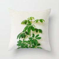 plant Throw Pillows featuring Plant by sakinarawr