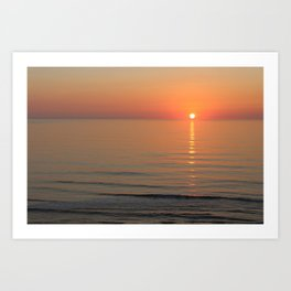 Symphony in Orange Ocean Sunrise Art Print
