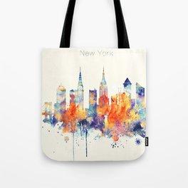 New York City Skyline Tote Bag