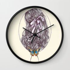 Bow and Butterfly Wall Clock