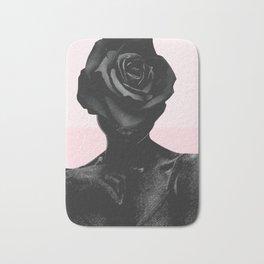 Black rose Bath Mat