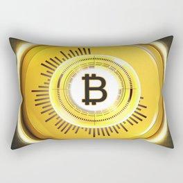 Bitcoin Glow Rectangular Pillow
