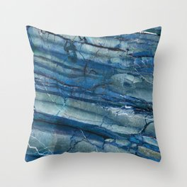 Ocean Depths Blue Marble Throw Pillow