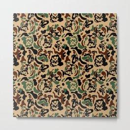 English Bulldog Camouflage Metal Print