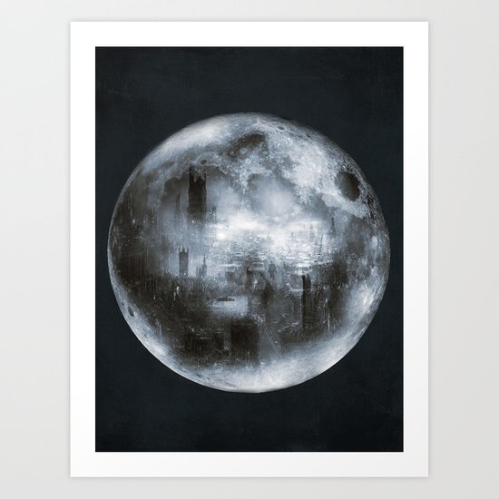 The Dark Side of the Moon Art Print