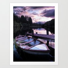 Summer's Evening On Loch Ard Art Print