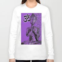 om Long Sleeve T-shirts featuring OM by Enri-Art