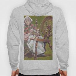 Old Irish Woman Sitting At A Spinning Wheel Hoody