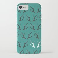 antlers iPhone & iPod Cases featuring Antlers by hannahclairehughes
