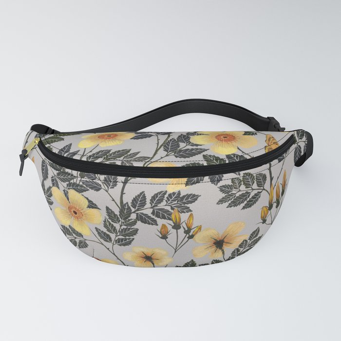 Yellow Wild Roses Fanny Pack