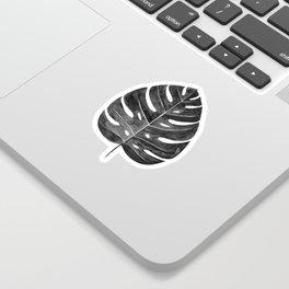 Monstera Leaf | Black and White Sticker