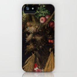 Four Seasons in One Head - Giuseppe Arcimboldo, 1590 iPhone Case