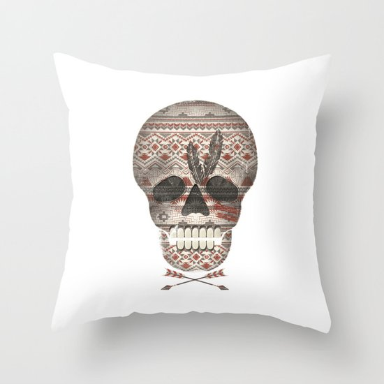 SKULL & ARROW  Throw Pillow
