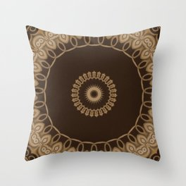 Sequential Baseline Mandala 25 Throw Pillow