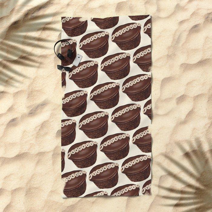 Cupcake Pattern Beach Towel