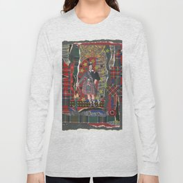 Bonnie Lad & Plaid by Nettwork2Design Nettie Heron-Middleton Long Sleeve T-shirt