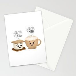 I Love You A Latte! I Love You S'more! Stationery Cards