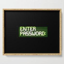 Enter password ascii clean Serving Tray