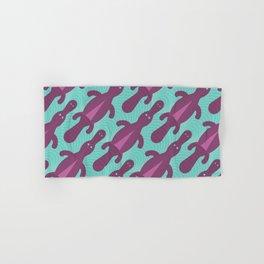 Platypus Convention - aqua and violet Hand & Bath Towel