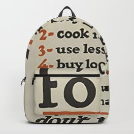Food Dont Waste It Backpack
