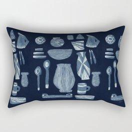 Dinnerware for Evening, 1958 Rectangular Pillow