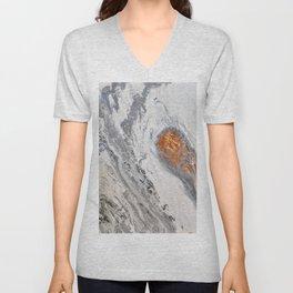 White Granite Unisex V-Neck