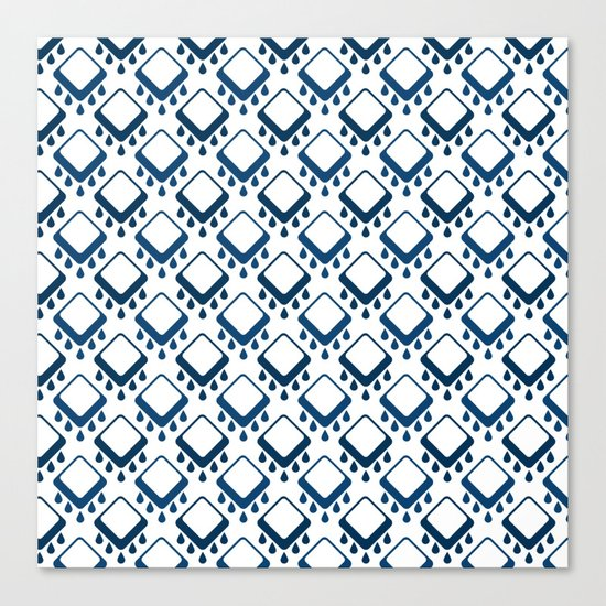 Abstract colorful geometric pattern .Blue and white . Canvas Print