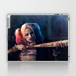 Harley Quinn - The Clown Princess Of Gotham With Her Goodnight Bat Laptop & iPad Skin