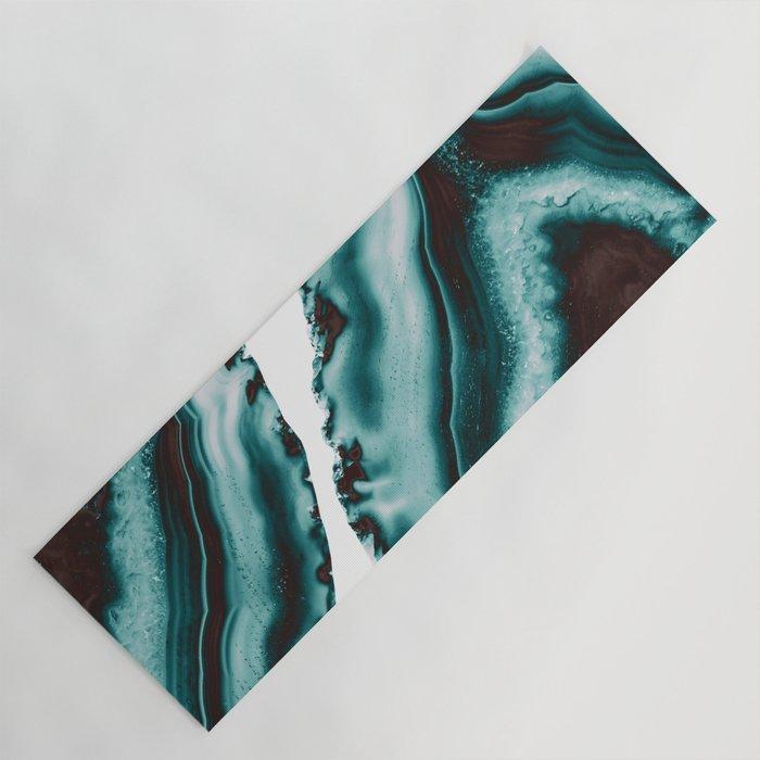 Turquoise Brown Agate #1 #gem #decor #art #society6 Yoga Mat