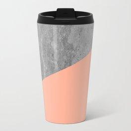 Geometry 101 Sweet Peach Pink Travel Mug