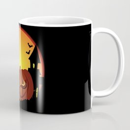Evil Halloween Pumpkin Scene Coffee Mug