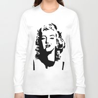 monroe Long Sleeve T-shirts featuring Monroe by annelise h