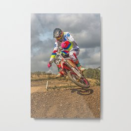 Motocross action sports Metal Print