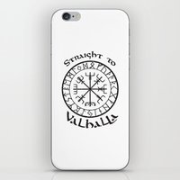 vikings iPhone & iPod Skins featuring Straight to Valhalla, Vikings by ZsaMo Design
