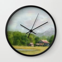 Retired Tractor on the Farm Wall Clock