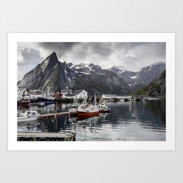 Lofoten Islands, Norway Mountain Landscape Art Print