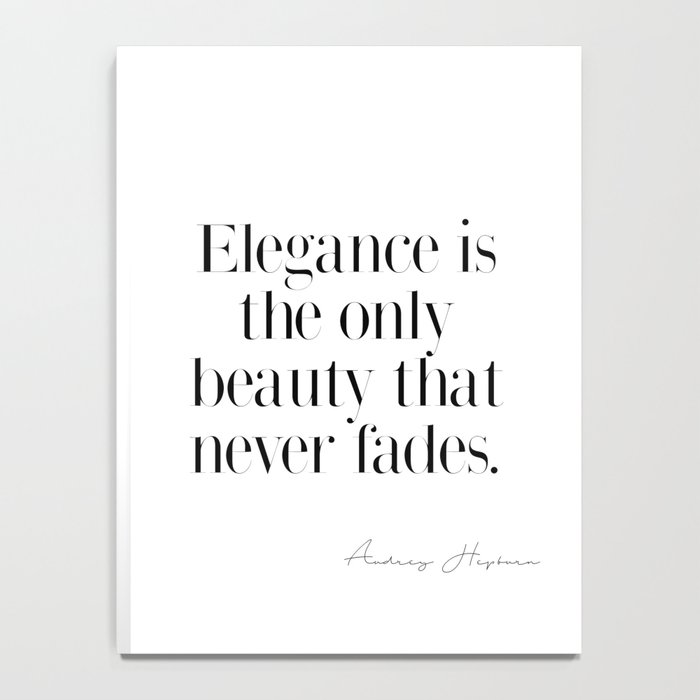 Elegance by Audrey Hepburn Notebook