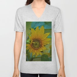 Sunflower Solar System Unisex V-Neck