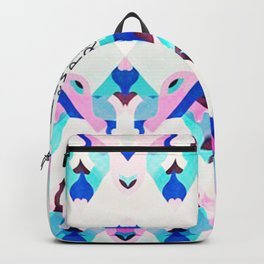 Mountain Ikat in Pink and Blue Backpack