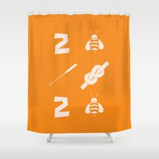2 bee oar knot 2 bee Shower Curtain