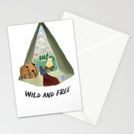 wild and free adventure art  Stationery Cards