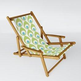 Retro Avocado Lime Green Sling Chair