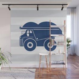 Dump truck stripe Wall Mural
