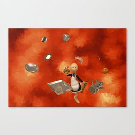 A French Maid Calamity - Funny Artwork Canvas Print